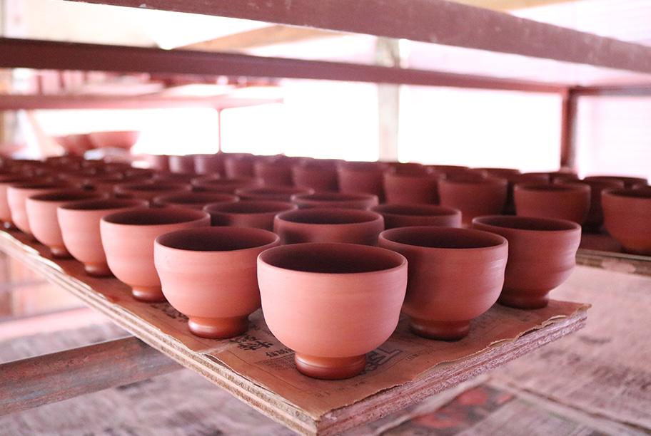 成形された陶芸品